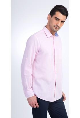 Kiğılı Erkek Uzun Kol Keten Tasarım Gömlek