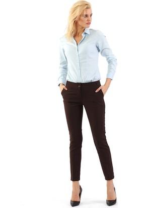 ZDN Jeans Kadın Düşük Bel Koyu Kahve Pantolon G007