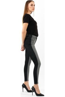 ZDN Jeans Kadın Normal Bel Antrasit Skinny Jean W1180