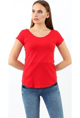 ZDN Jeans Kadın Kırmızı Tshirt R922
