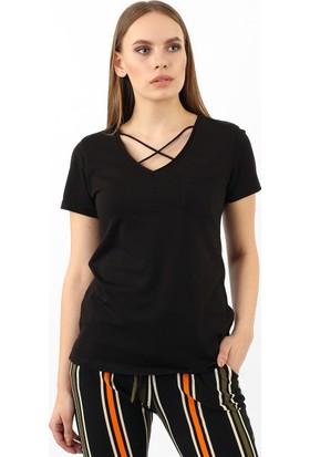 ZDN Jeans Kadın Siyah Tshirt R920