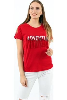 ZDN Jeans Kadın Kırmızı Tshirt W7972