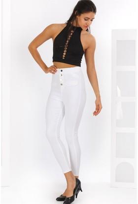ZDN Jeans Kadın Yüksek Bel Skinny Jean W901