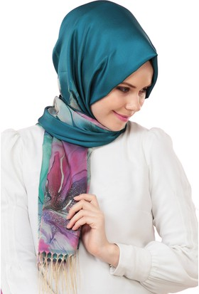 Cachmira Batik Desenli Tafta Şal