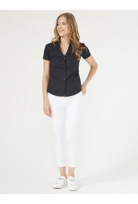 Xint Açık Yaka Slim Fit Gömlek