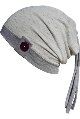 Babygiz Düğmeli Melanj Desenli Şapka