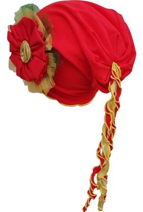 Babygiz Çiçek Aksesuarı Püsküllü Şapka