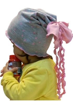 Babygiz Yıldız Desenli Fiyonklu Şapka