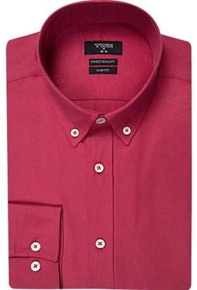 D's Damat Twn Kırmızı Erkek Gömlek