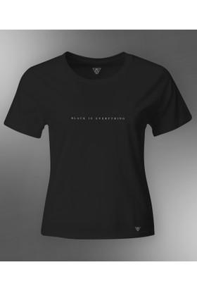 BEWE Kadın Black İs Everything Siyah T-Shirt