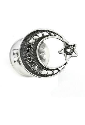 Hepsi Ay Yıldız 925 Ayar Gümüş Telkari Ay Yıldız Rozet