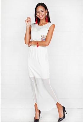 Pinkmark Kadın Beyaz Elbise