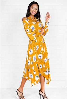 Pinkmark Kadın Hardal Elbise