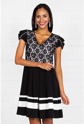 Pinkmark Kadın Siyah Beyaz Elbise