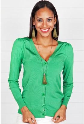 Pinkmark Kadın Yeşil Hırka