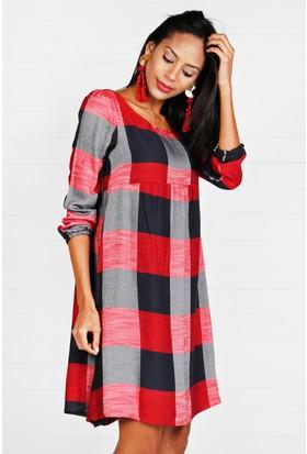 Pinkmark Kadın Ekoseli Elbise