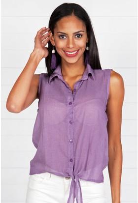 Pinkmark Kadın Lila Gömlek