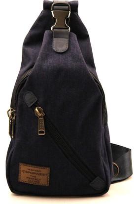 Sporwest Unisex Lacivert Küçük Sırt Çantası Body Bag SPWST002LC