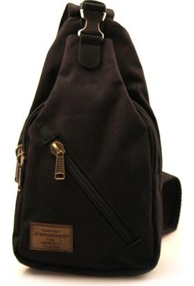 Sporwest Unisex Siyah Küçük Sırt Çantası Body Bag SPWST002S