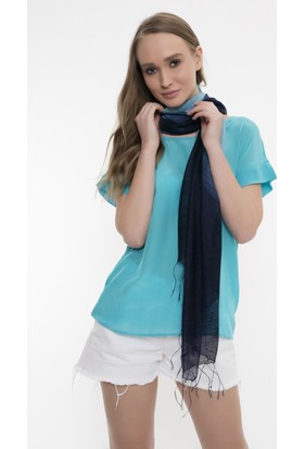 Silk And Cashmere Kadın İpek France Degrade Fular