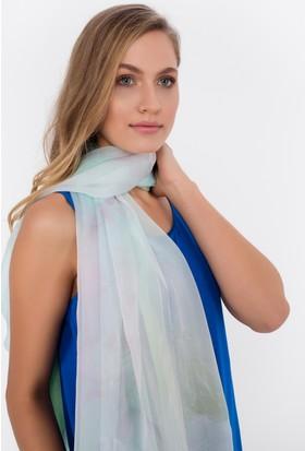 Silk And Cashmere Kadın Saf İpek Uzun Desenli Eşarp