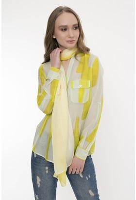 Silk And Cashmere Kadın İpek Degrade Uzun Eşarp 65 x 170