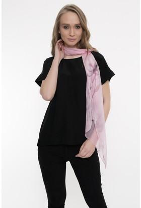 Silk And Cashmere Kadın İpek Desenli Uzun Eşarp