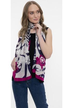 Silk And Cashmere Kadın İpek Desenli Şal 90 x 190