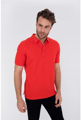 Silk And Cashmere Erkek İpek Jen Kısa Kollu Polo Yaka Tshirt