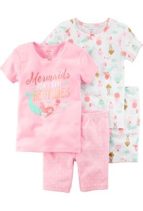 Carter's Küçük Kız Çocuk 4'Lü Pijama 23243413