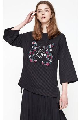Koton İşlemeli Sweatshirt