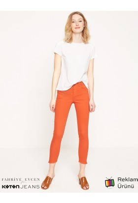 Koton Fahriye Evcen For Koton Jeans Pantolon