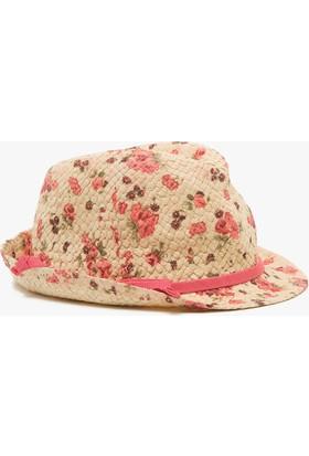Koton Çiçekli Hasır Şapka