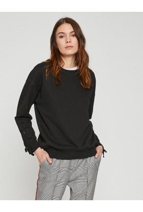 Koton Kol Detaylı Sweatshirt