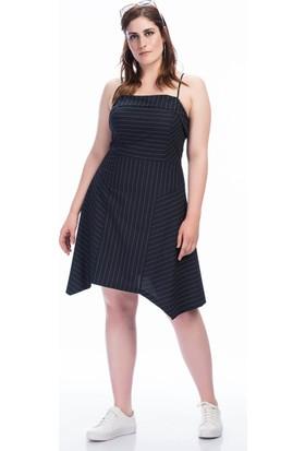 Lir Kadın Askılı Elbise 1354 Lacivert 46