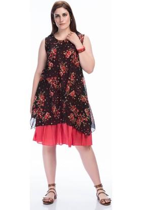 Lir Kadın Kolsuz Elbise 1361 Kiremit 50