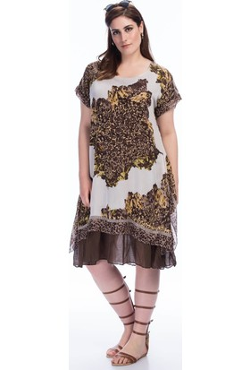 Lir Kadın Elbise 1375 Kahve 50