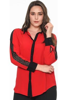 Lir Kadın Gömlek 52 Kırmızı