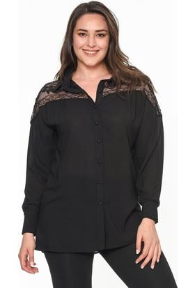 Lir Kadın Gömlek 54 Siyah