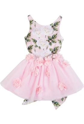 Goose Kız Çocuk Beli Gul Suzınelı Tutu Elbise