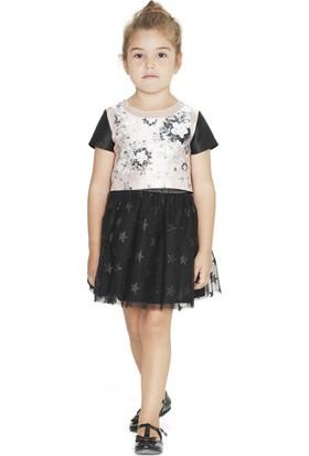 Goose Kız Çocuk Organze Garnili Güllü Bluz