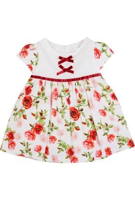 Goose Kız Çocuk Çift Fıyonklu Kadife Bebek Elbise