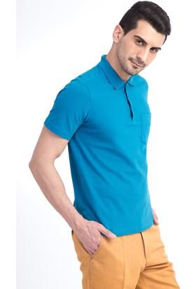 Kiğılı Düz Polo Yaka Pike T-Shirt