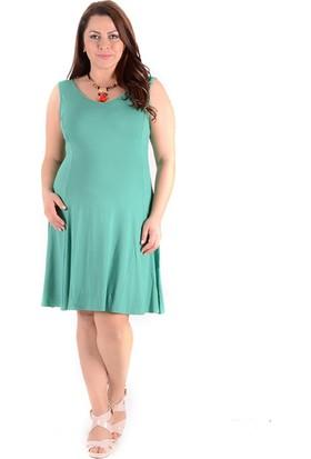 Tepa Kadın Açık Yeşil Kolsuz Elbise