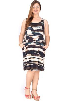 Tepa Kadın Batik Cepli Elbise