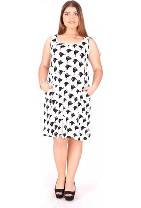 Tepa Kadın Beyaz Martı Elbise