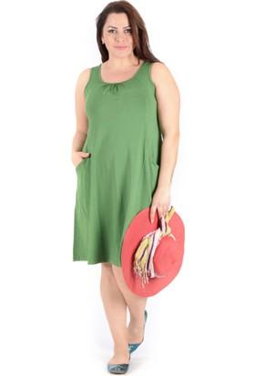 Tepa Kadın Çağla Yeşili Cepli Elbise