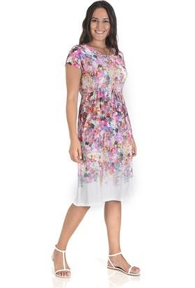 Tepa Kadın Çiçekli Reglan Elbise