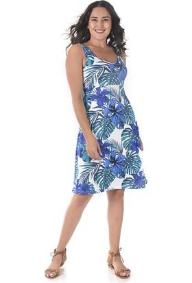 Tepa Kadın Ekru Hawai Elbise