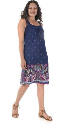 Tepa Kadın Etnik Marine Elbise